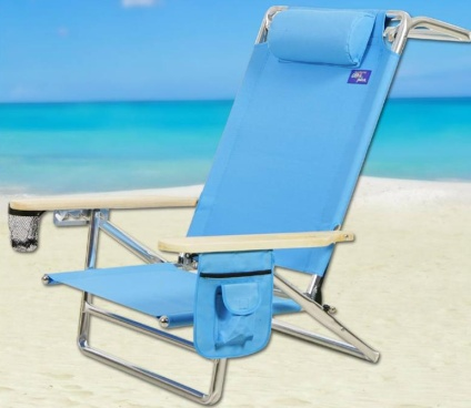 Marvelous Brand New High Back Reclining Beach Chair Frankydiablos Diy Chair Ideas Frankydiabloscom
