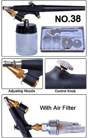 High Quality Dual/ Single Action 3 Airbrushes Kit with Air Compressor