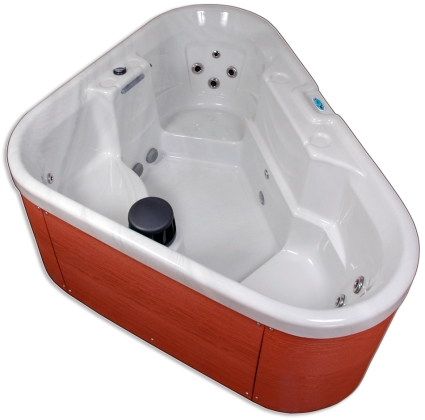 corner unit plug play 3 person hot tub spa with 12 jets
