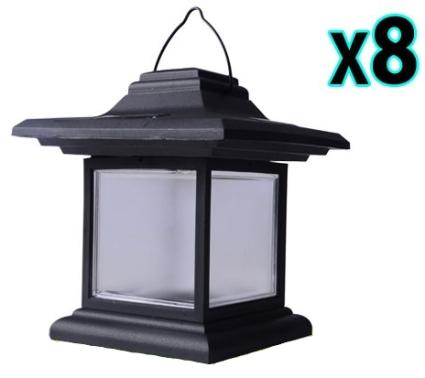 Brand New 8pcs Outdoor Hanging LED Solar Garden Light