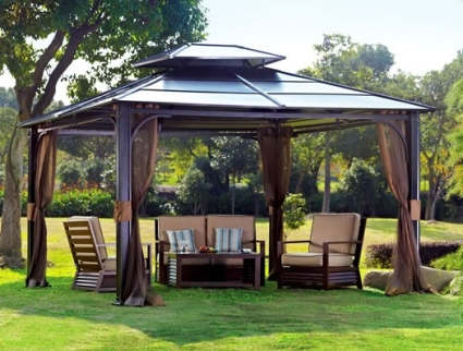 10 x 12 hardtop gazebo with mosquito netting - Insect netting for gazebo ...