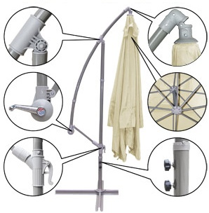 brand new 9' outdoor cantilever umbrella mosquito net honda hrr2168vka parts diagram #7