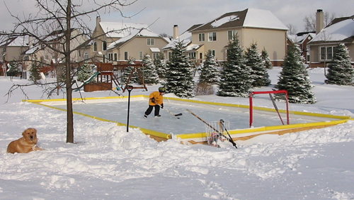 NiceRink 46'x60' Backyard Hockey Ice Rink Kit