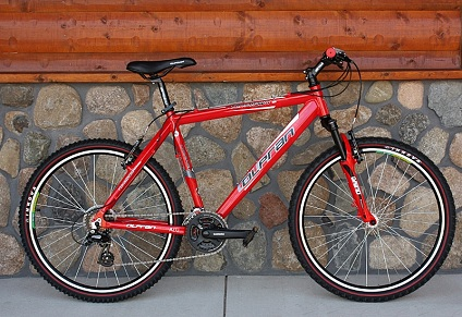 High Quality Red 18 Quot 24 Speed Shimano Aluminum Mountain Bike
