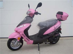 50cc Pink Panther Maui Moped Only 6 Left