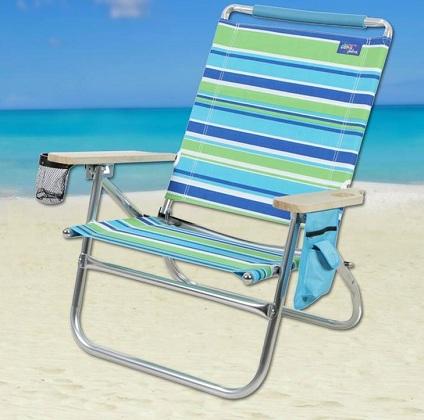 Astonishing 2 High Back Reclining Beach Chairs Frankydiablos Diy Chair Ideas Frankydiabloscom